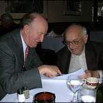 Mark Skousen and Milton Friedman at lunch