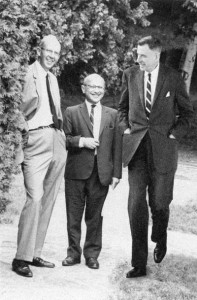"George Stigler, Milton Friedman and John Kenneth Gailbraith -- ""All great economists are tall. There are two exceptions: John Kenneth Galbraith and Milton Friedman."" --George J. Stigler"